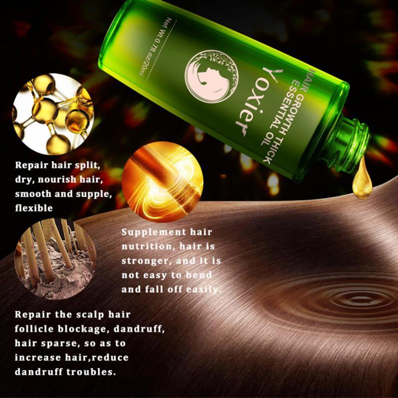 Ziołowy olejek eteryczny na porost włosów utrata włosów płyn do pielęgnacji włosów piękno gęste Serum do porostu włosów naprawa rosnące leczenie płyn TSLM1