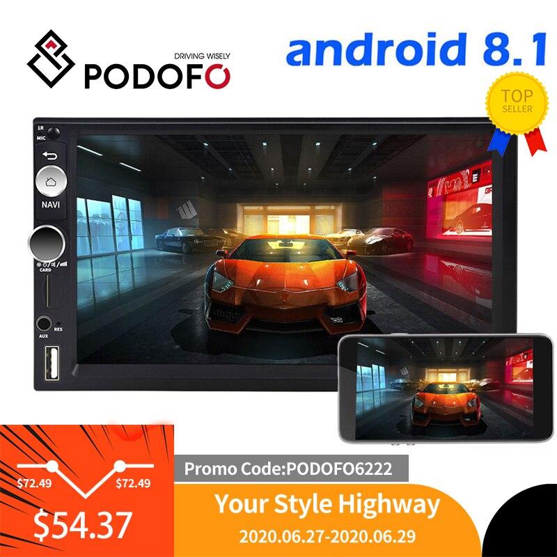Автомобильный мультимедийный плеер Podofo, 2DIN, Android 8,1, gps, Wi Fi, USB, для Volkswagen, Nissan, toyota, Golf, стерео|rear view monitor|rear viewlcd tft monitor | АлиЭкспресс