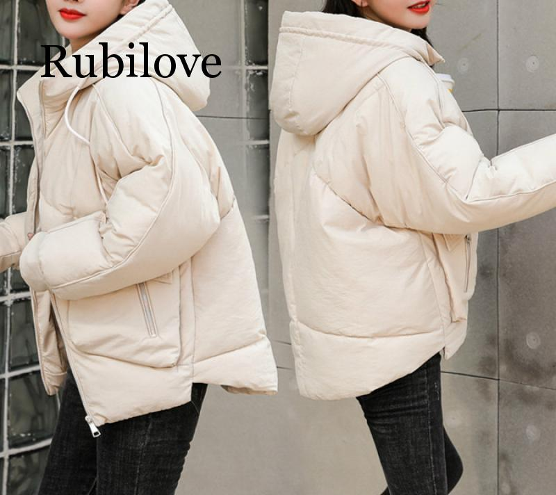 2020 Causal Ladies Solid Padded Jacket Short Autumn Winter Wadded Jacket Women Hooded Coats Female Parkas With Gloves Overcoat