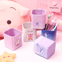 Sandro creative cartoon animal  pencil box desktop storage pencil box decoration Square office supplies box stationery