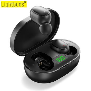 Gorące TWS bezprzewodowe słuchawki Bluetooth słuchawki z redukcją szumów z mikrofonem zestaw głośnomówiący wyświetlacz Led słuchawki douszne dla Xiaomi Redmi tanie i dobre opinie LightBuds Zaczepiane na uchu NONE Dynamiczny CN (pochodzenie) Prawdziwie bezprzewodowe 105dB Do gier wideo Zwykłe słuchawki
