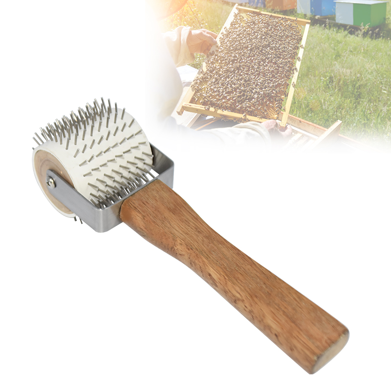 Beekeeping Uncapping Needle Roller Bee Honeycomb Easily Extracting Beekeeping Beekeeper Equipment Tool Bee Extracting Tools