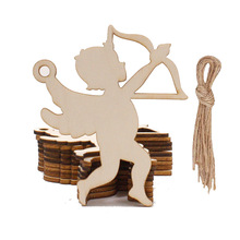 Wedding Party Bachelorette Propose Party Diy Decoration Home Furnishing Decoration Wooden Cupid Love Decoration Pendant 10pcs 10pcs lot 5x5cm home furnishing embossed decoration european style wooden furniture decals