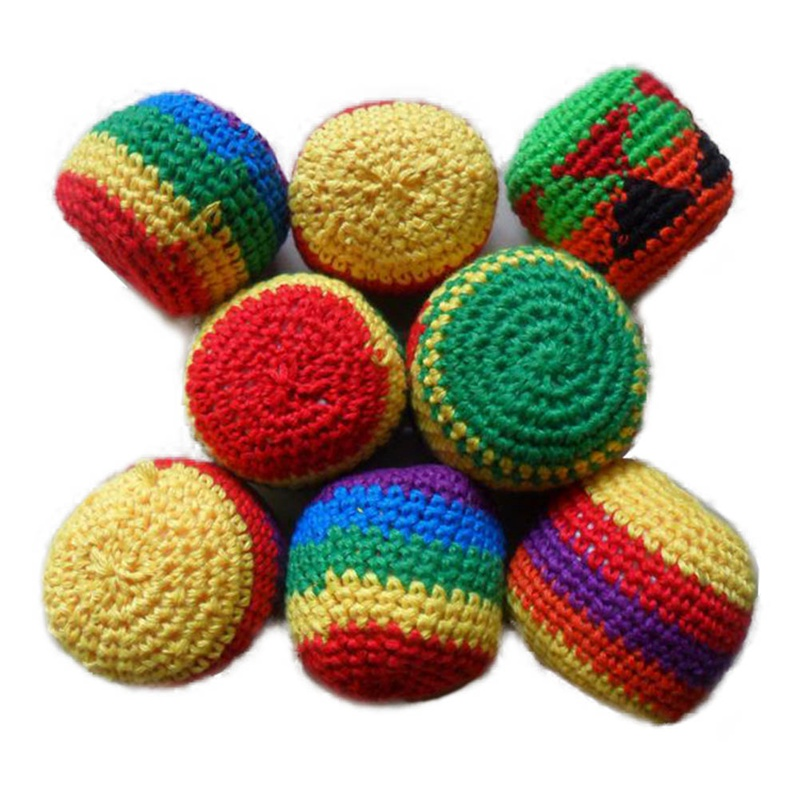 Round Sandbags Handmade Children Magic Juggling Ball Sacks Footbag For Kid Randomy Color Ball Toy
