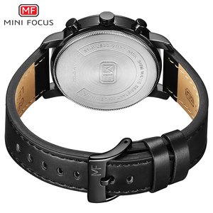 Image 3 - นาฬิกาแฟชั่นผู้ชายอเนกประสงค์ Dial Sub Multi Function Slim นาฬิกาผู้ชายหนังนาฬิกาสายรัดข้อมือ Relogio Masculino