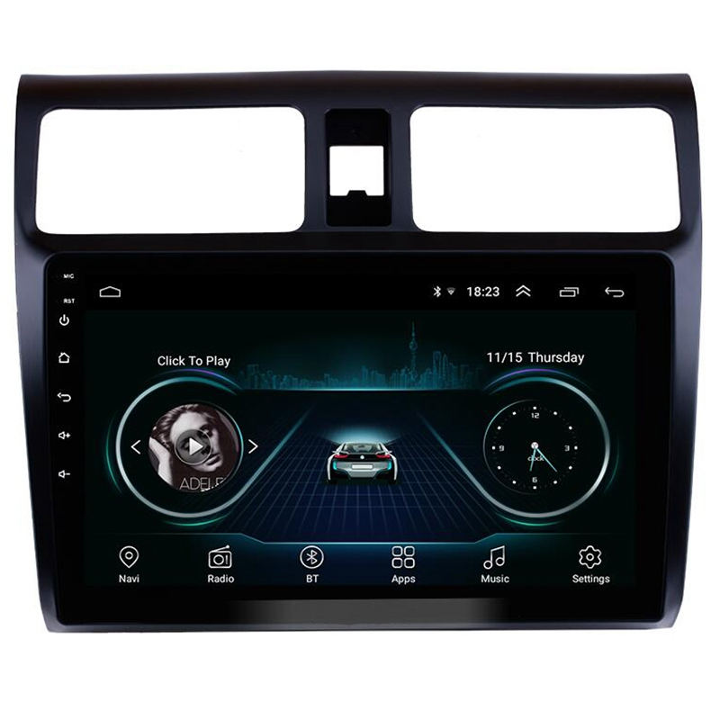 Car Stereo GPS Navigation Multimedia Player for 2005 2006 2007 <font><b>2008</b></font> 2009 2010 <font><b>Suzuki</b></font> <font><b>Swift</b></font> 10.1 Inch <font><b>Android</b></font> 8.1 Head Unit image