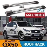 2Pcs Roof bars For infinitit  QX50 2014  2017  2012Aluminum Alloy Side Bars Cross Rails Roof Rack Luggage CUV SUV LED|Roof Racks & Boxes|   -