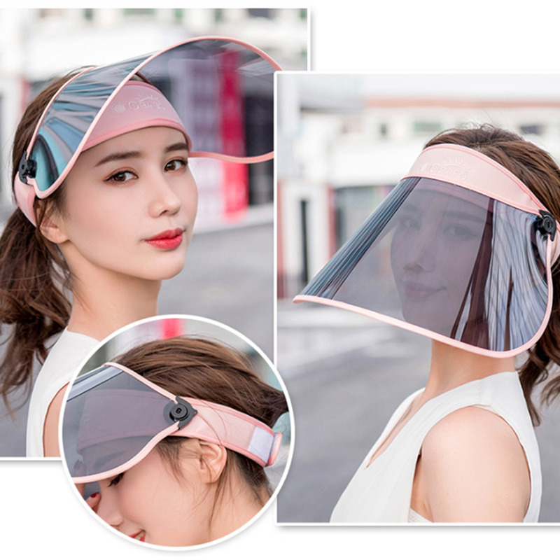 Sun Visor For Full Face Head PVC Shield Cover Solar Reflective UV Protectant Hat Cap