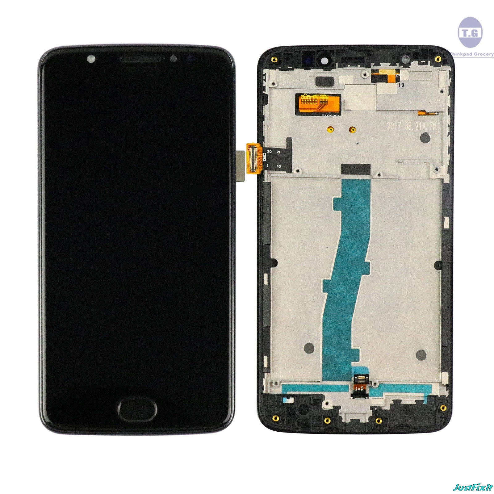 Replacement For Motorola Moto E4 <font><b>XT1762</b></font> XT1772 <font><b>LCD</b></font> Display Touch Screen Digitizer Assembly Replacement +Tools +Adhesive image