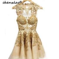 Short/Mini A Line/Princess Bateau Sleeveless Applique Tulle Homecoming Dresses Party Gowns Graduation Dress