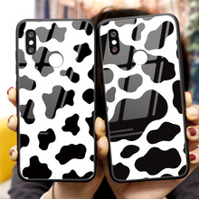 Tempered Glass Cow Symbol Case For Xiaomi