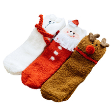 3 Pairs Cotton Christmas Socks Women &Men New 2019 Autumn Winter Year Santa Claus Tree Snow Elk Gift Happy