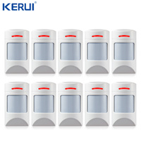 10PCS Wireless 433Mhz Pet Immune Motion PIR Detector For Security Home GSM Alarm System Security anti pet immunity