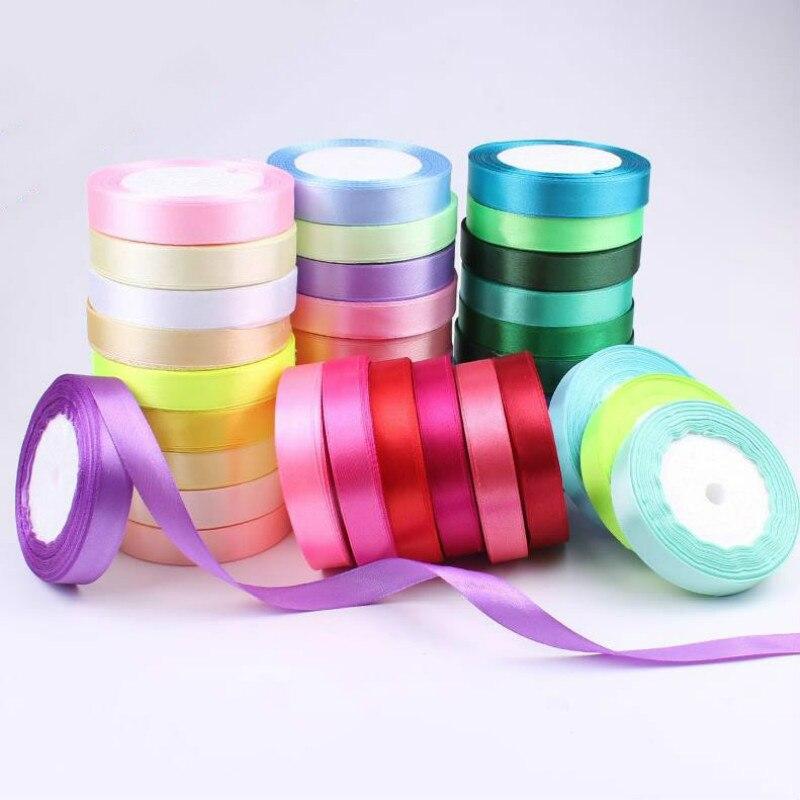 6/10/15/20/25/40/50mm Satin Ribbons DIY Artificial Silk Crafts Supplies Sewing Accessories Scrapbooking Material Gift Box Belt()