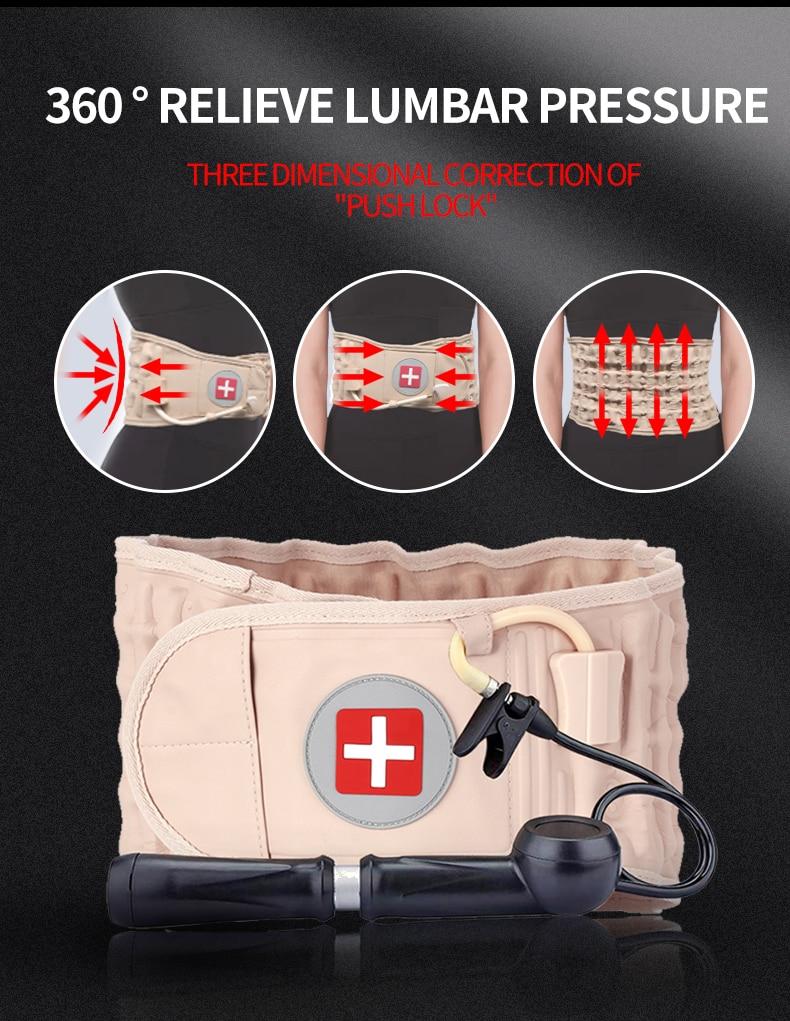 Decompression Lumbar Support Belt Waist Spine Brace Back Pain Relief