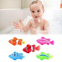 9pcs Electronic Toy Interesting Light Sensing Simulation Fish Baby Swim Bath Toys Magical Electric Toy Kid Brain Game Shower Toy(China)