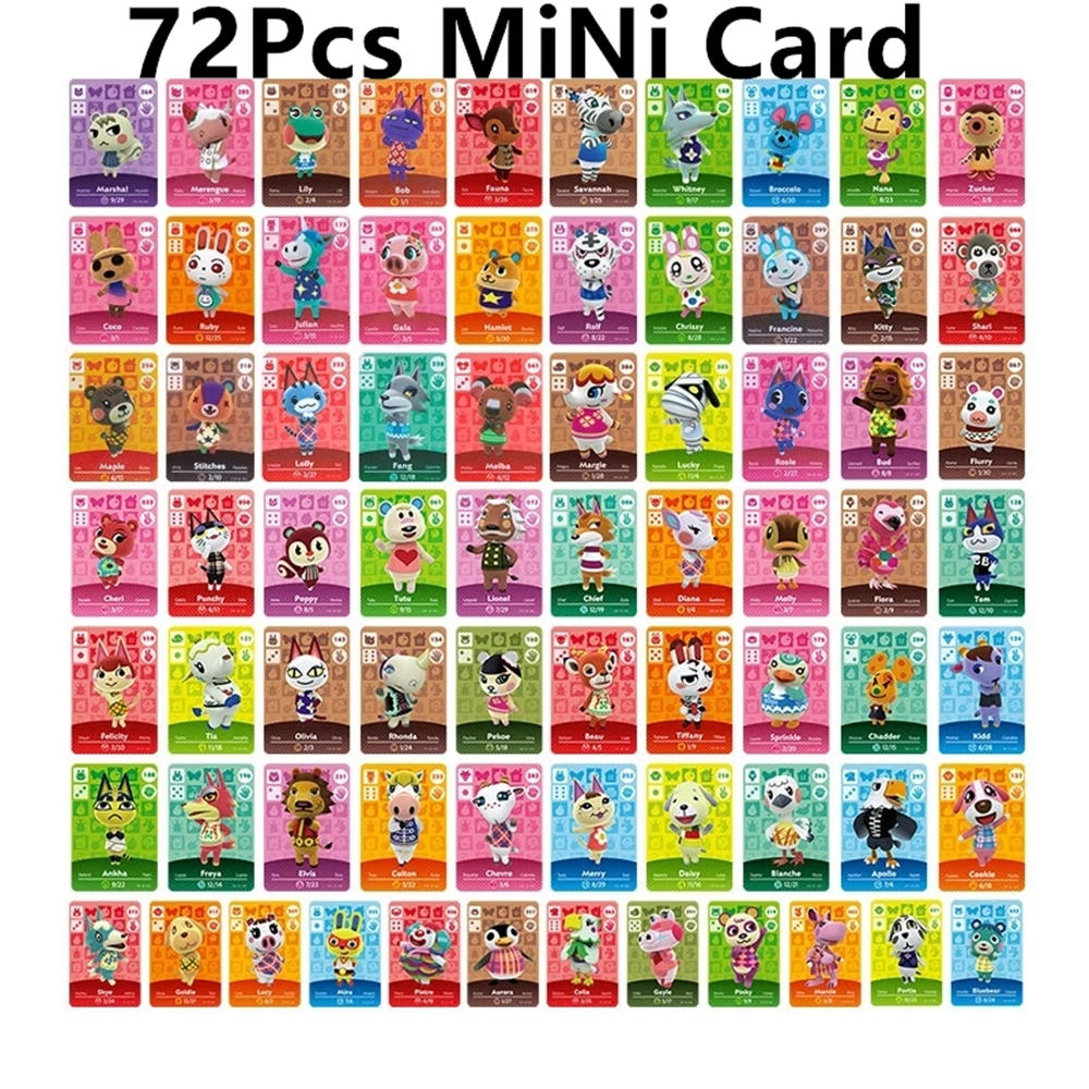 Game-Cards NFC Switch Animal Wii-U Crossing Mini 72pcs