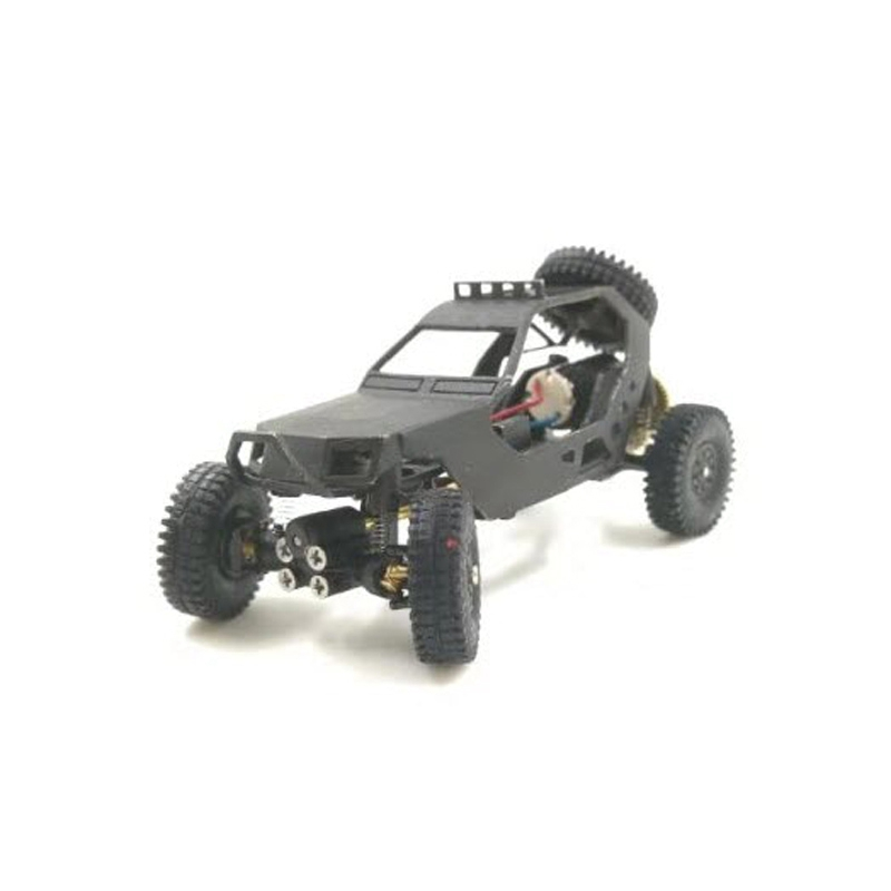Dasmikro Das87 Das87A03 HO Scale 1/87 4X4 Chassis DIY Desert Truck Crawler Kit with 3D Printed Body and Motor image