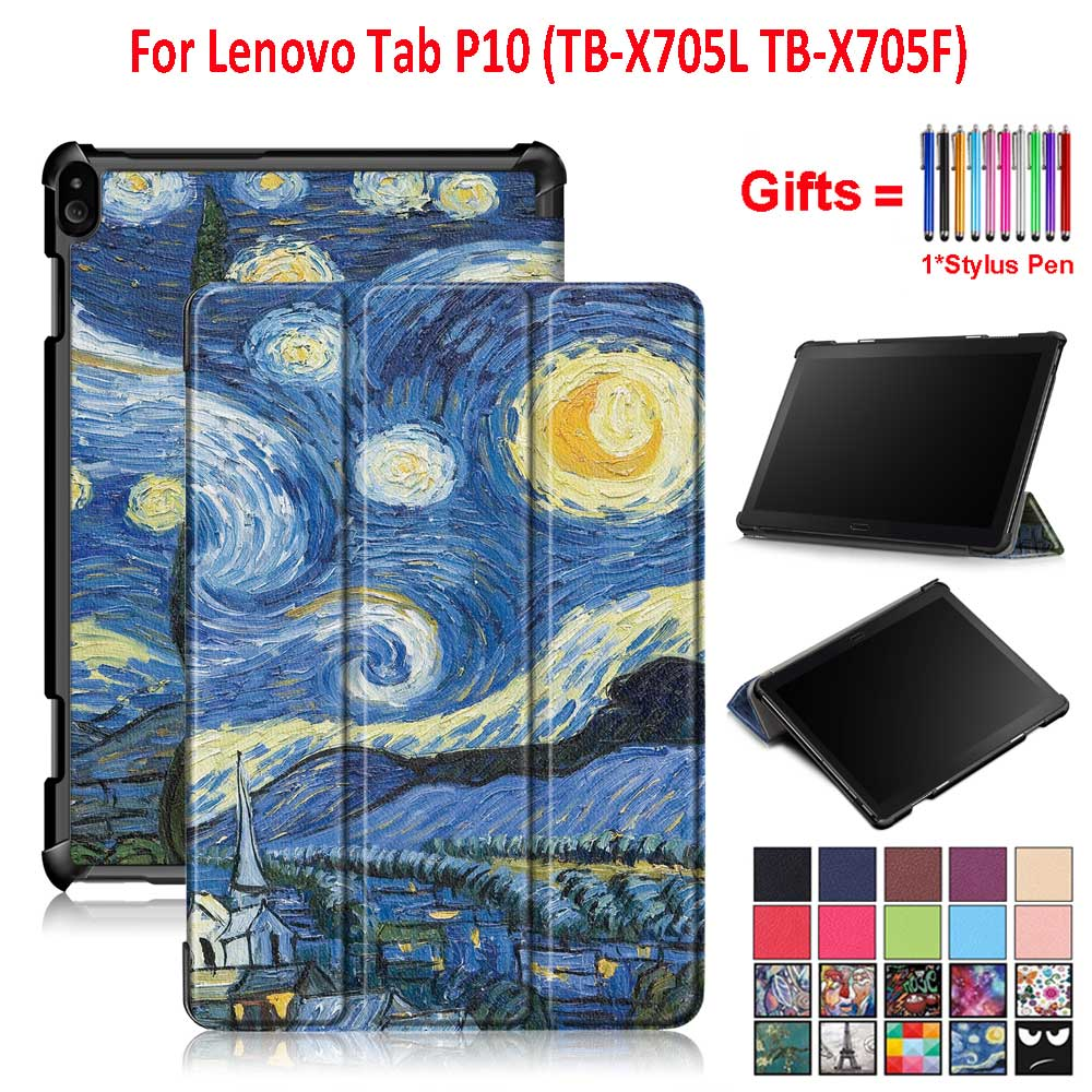 Smart <font><b>Case</b></font> Cover For <font><b>Lenovo</b></font> Tab P10 <font><b>TB</b></font>-<font><b>X705L</b></font> <font><b>TB</b></font>-X705F 10.1