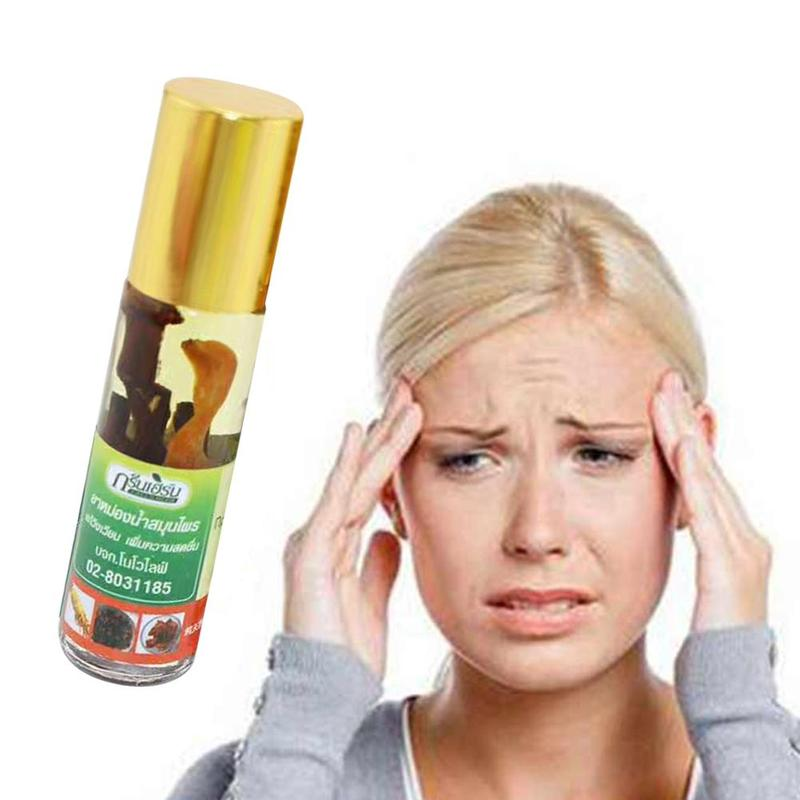 8ml Thai Green Herb Nasal Peppermint Oil Essential Oil Refreshing Brain Sickness Refreshing Oil Pain Relief Ointment Compound