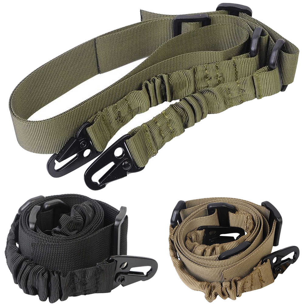 Tactische 2 Point Gun Sling Schouderriem Outdoor Rifle Sling Met Qd Metalen Gesp Shotgun Pistool Riem Hunting Gun Accessoires