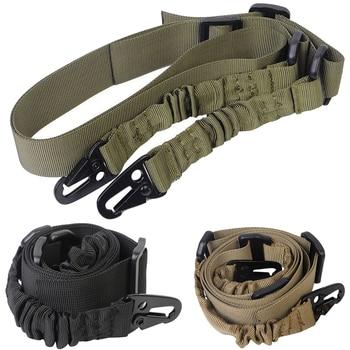 Тактически двуточков ремък за презрамки на открито с прашка за пушка с QD метална катарама