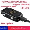USB-интерфейс VAG COM HEX V2 21,3 VAGCOM 20.12.0 HEX CAN для VW AUDI Skoda Seat Unlimited VIN для 1996-2021