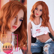 145cm (4.76ft) Full Body Silicone Dolls for Sex Small Breast Red Head Sweet Girl Exotic Blue Eyes Real Price Sex Doll for Men