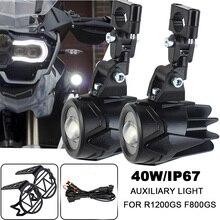 Feu antibrouillard auxiliaire pour motos, installation de phares de circulation, pour BMW R1200GS, ADV, F800GS, F700GS, F650GS, K1600 LED, 40W