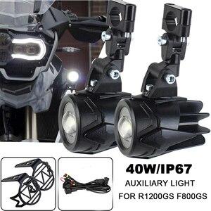 Image 1 - Luces antiniebla para motocicleta BMW R1200GS, ADV, F800GS, F700GS, F650GS, K1600, luz LED auxiliar antiniebla, lámpara de conducción de montaje de 40W