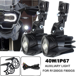 Image 1 - Motocykl przeciwmgielne światła dla BMW R1200GS ADV F800GS F700GS F650GS K1600 światło pomocnicze LED światła przeciwmgielnego montaż lampa do jazdy 40W