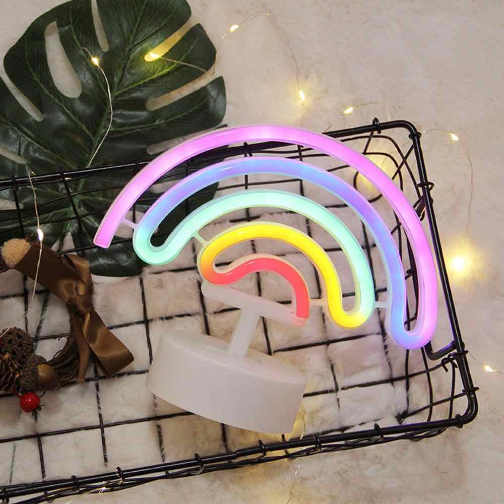Nueva lámpara de luz LED arcoíris de neón para decoración de dormitorio lámpara de neón de decoración arcoíris decoración de pared para Navidad