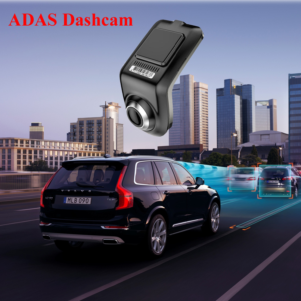U3 Full HD 1080P Min Car DVR Camera ADAS Auto Digital Video Recorder Dash Cam for Android Multimedia Player G-Sensor Car DVRs