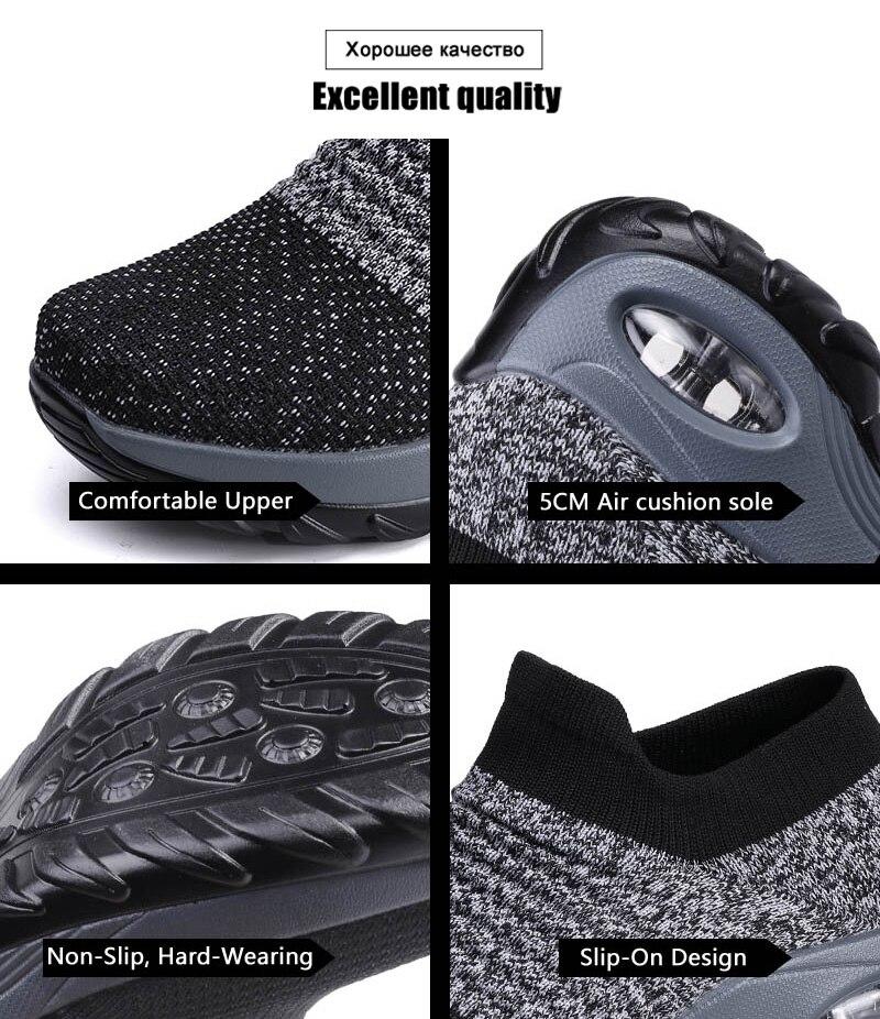 Sapatos femininos tamanho 41 42 amortecimento ar
