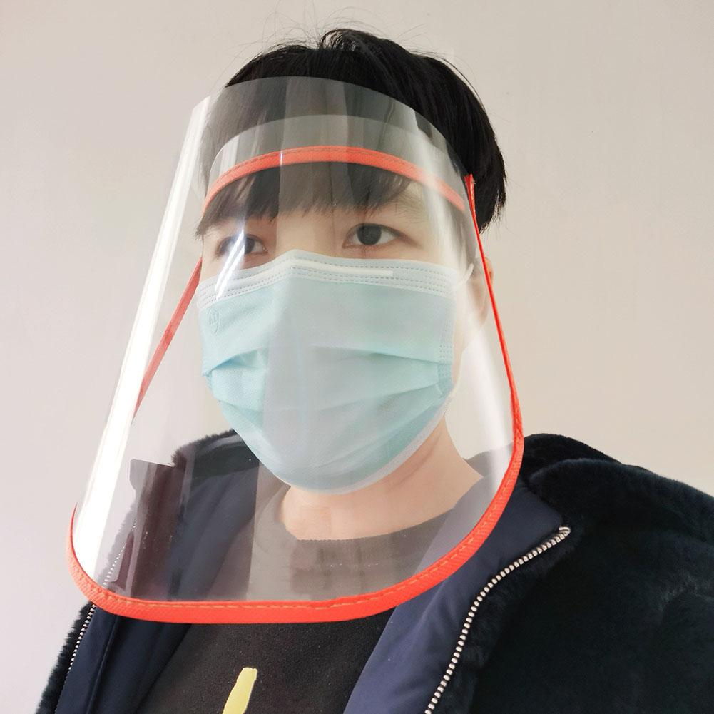 Adjustable Anti Droplet Dust-proof Protective Full Face Cover Mask Visor Shield Anti-Fog Face Covering Protective Covers