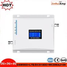 Répéteur à trois bandes 900 1800 2100 wcdma dcs GSM répéteur à trois bandes amplificateur de signal mobile répéteur de signal cellulaire booster2g 3g 4g