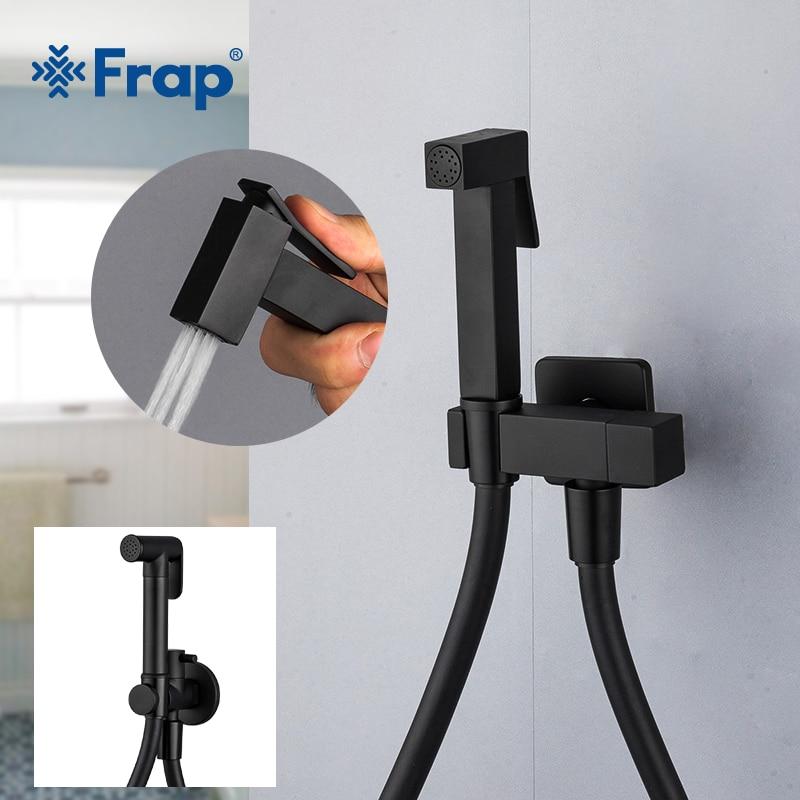 Frap Bidet Faucet Brass Shower Tap Washer Toilet Sprayer Hygienic Shower Bidet Tap Wall Mounted Bidet Faucets Y50058/9