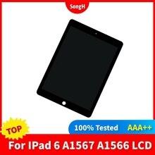 Tablet LCD testato al 100% per Apple iPad 6 Air 2 A1567 A1566 Display Touch Screen Digitizer sensori pannello di montaggio parti di ricambio