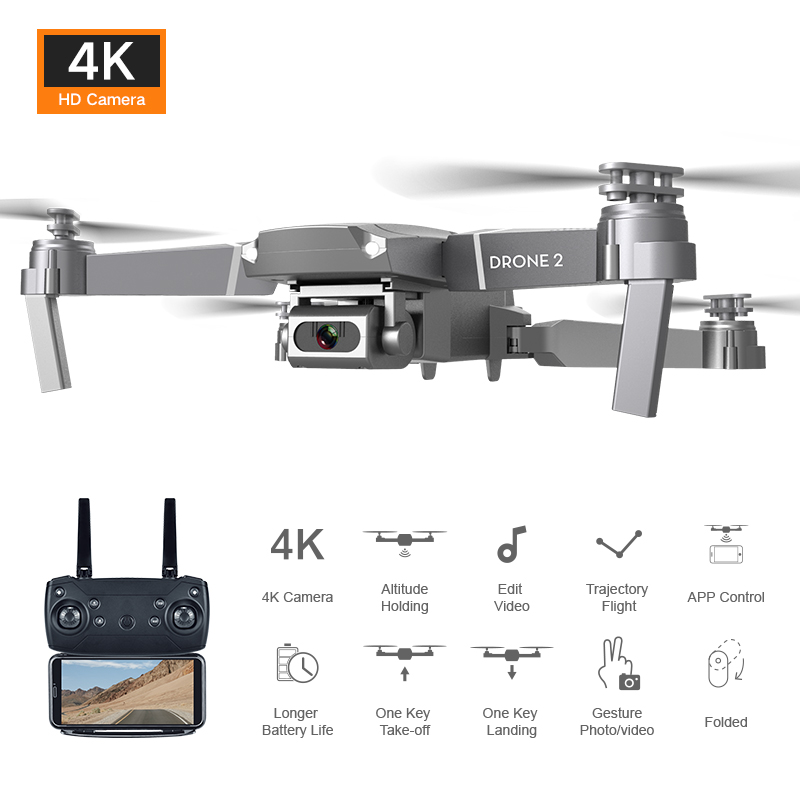 New Mini drone Quadcopter E68 Wifi Fpv Drone With Wide Angle Hd 4k 1080p Camera Hight Hold Mode Rc Foldable Quadcopter Dron Gift