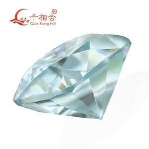 Image 3 - blue color  cushion shape dia mond cut Sic material  Moissanites loose stone