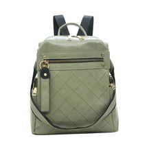 Lady Backpack One Shoulder Portable Yellow Black White Green High Capacity Rear Zip Pocket Casual Style Square