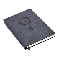 A5 Notebook Name Leather Writing Pads Binder Diary Office School Supply