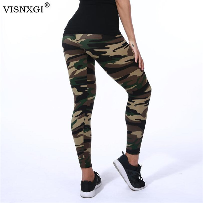 VISNXGI High Quality Women Leggings High Elastic Skinny Camouflage Legging Spring Summer Slimming Women Leisure Jegging Pants
