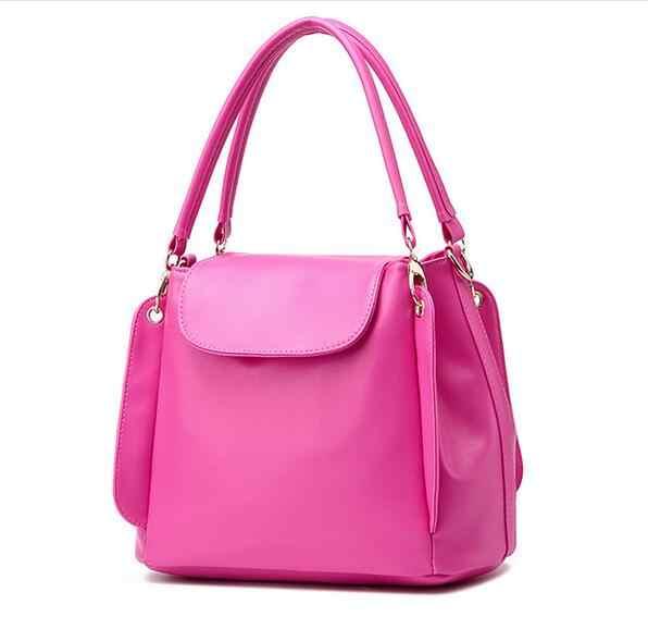 100% en cuir véritable femmes sacs à main 2019 nouveau sac à main sac dames décontracté trois doux sac à bandoulière femme main connaissement