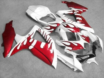 High quality Fairing kit for Suzuki gsxr 600 GSXR750 08 09 10 red flames fairings set K8 K9 GSXR 600 750 2008 2009 2010 K8 K9GZ7