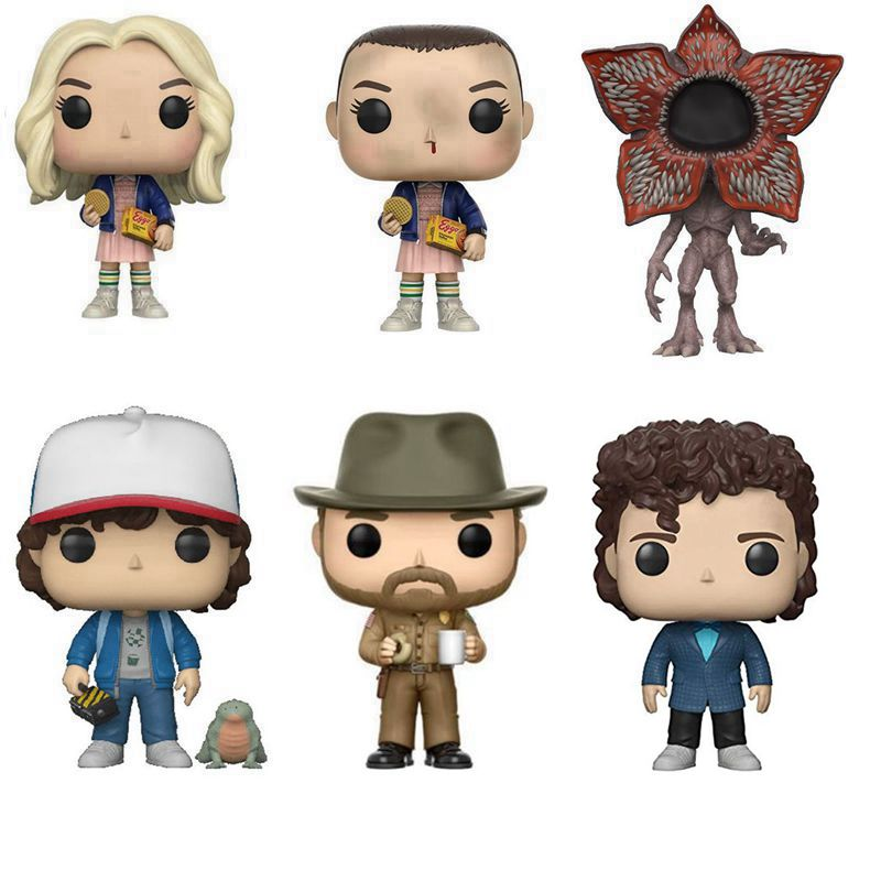 Stranger Thing Eleven Jim Hopper Dustin Henderson Will Byers Action Figures Doll, Kids Christmas Gift Toy