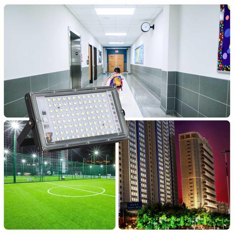 LED Banjir Cahaya AC 220V 230V 240V Lampu Sorot Outdoor Spotlight IP65 Tahan Air 30W 50W 100W LED Lampu Jalan Landscape Lighting