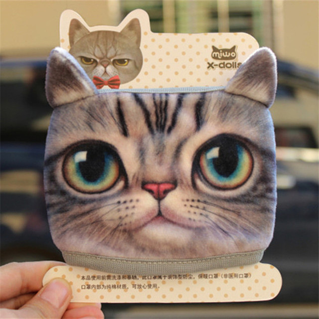 New Cute Cartoon Animal Funny Cat Dog Cotton Mouth Face Mask Anti Dust Masks For Korean Kpop Unisex Face Mouth Muffle Mask Anime