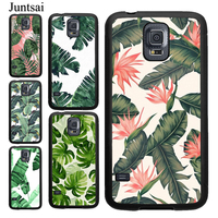 Juntsai Tropical leaves Banana Leaf Case For Samsung Galaxy A20 A30 A50 A70 S7 Edge Note 10 9 8 S9 S8 S10 Plus S10e