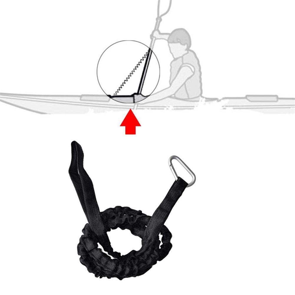Весло из ткани Оксфорд для байдарки, каное поводок, поводок для удочки, безопасная веревка с карабином, аксессуары для гребных лодок